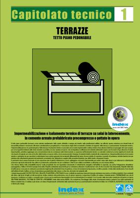 TETTO PIANO PEDONABILE TERRAZZE